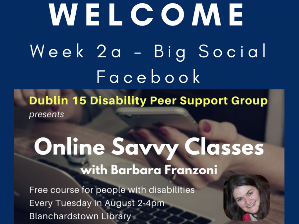 Click this image to be taken to slide viewer for Online Savvy Week 2 slides - part 1: Facebook and canvas