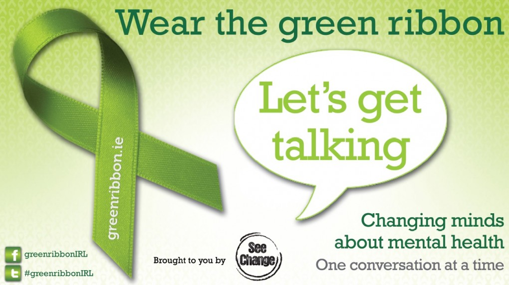 Special Green Ribbon campaign logo called Let's Get Talking
