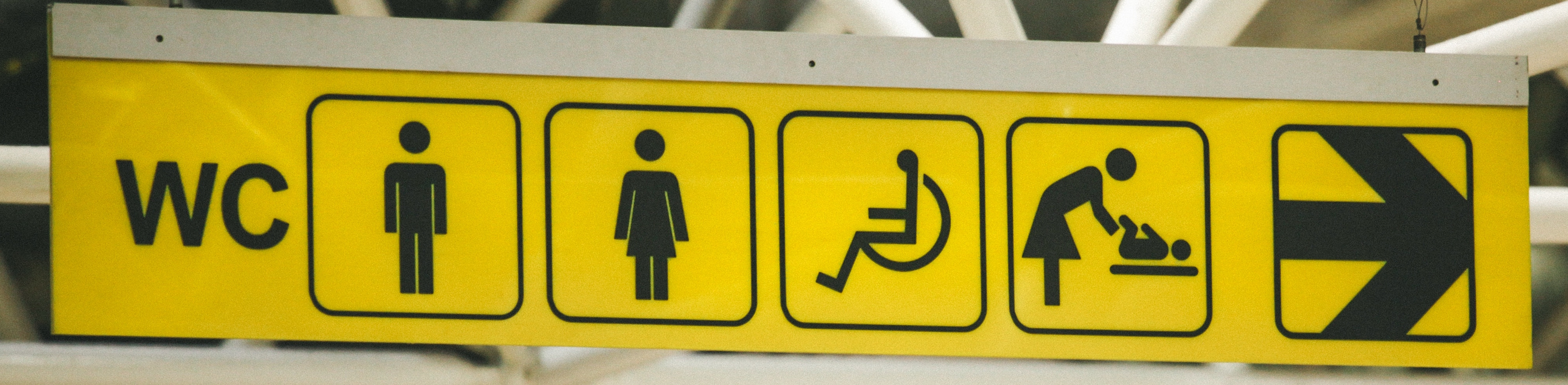Sign for facilities including wheelchair accessible