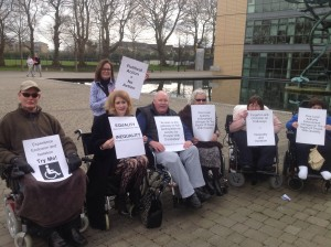 Dublin 15 Leader Forum Protest Photo