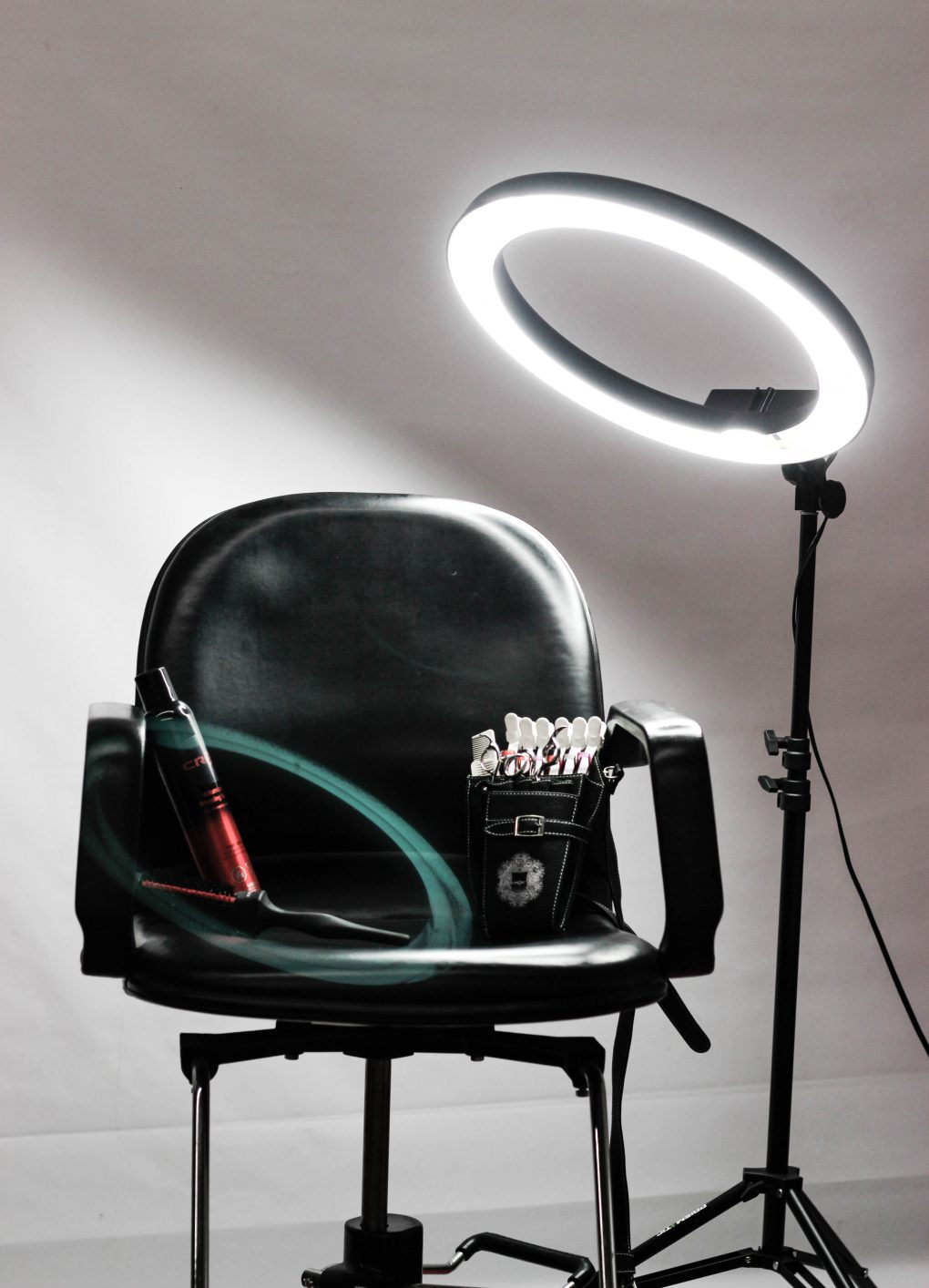 Picture of a directors chair on a film set